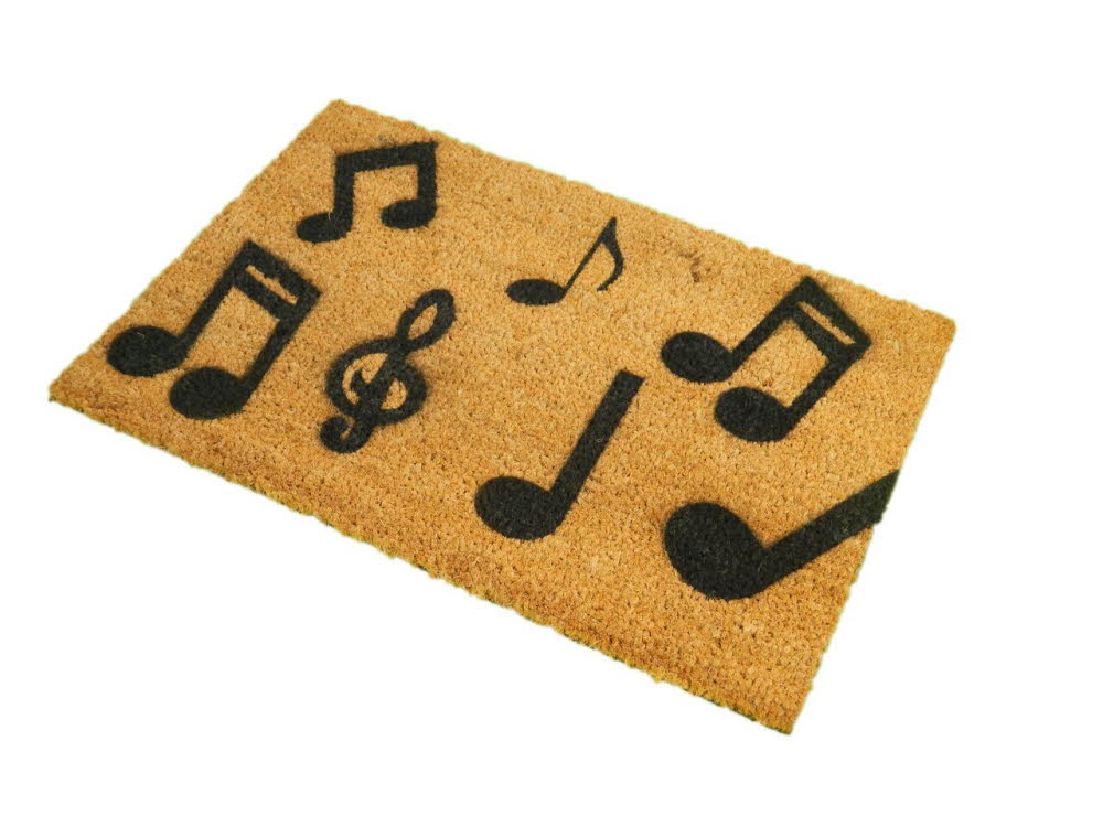 Music Notes Doormat A1 Personalised Gifts