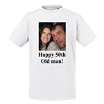 Personalised Photo Mens Round Neck T-shirt