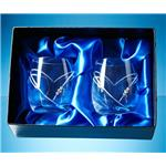 Engraved Diamante Heart Whisky Tumblers