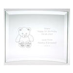 Engraved 1st Birthday Glass Plaque