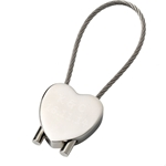 Engraved Heart Cable Keyring