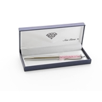 Engraved Silver Pen with Pink Sea Gems