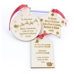Personalised Wooden Christmas Gift Tags