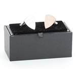 Engraved Plectrum Cufflinks with Gift Box