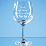 Engraved Connoisseur Spanish Gin Glass