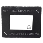 Engraved Best Grandad Slate Photo Frame