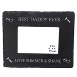 Engraved Best Daddy Slate Photo Frame