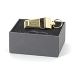 Personalised Engraved Gold Plated Whistle & Gift Box