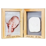 Engraved Bambino Photo Frame and Clay Print Kit