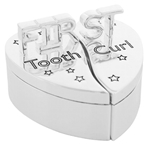 Engraved Baby's First Tooth/First Curl Heart Box