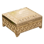 Engraved Gold Square Trinket Box