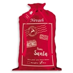 Personalised Red Polyester Hessian Santa Sack