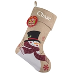Personalised Snowman Christmas Stocking