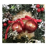 Personalised Christmas Glitter Glass Bauble