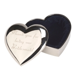 Engraved Bridesmaid Heart Trinket Box
