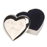 Engraved I Love My Sister Heart Trinket Box