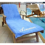 Embroidered Sun Lounger Towel