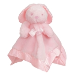 Personalised Pink and Blue Bunny Baby Comforter