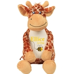 Personalised Embroidered Cuddly Giraffe