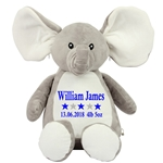 Personalised Embroidered Cuddly Elephant