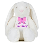 Personalised Embroidered Cuddly Bunny Rabbit