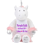 Personalised Embroidered Cuddly Unicorn