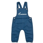 Embroidered Toddler/Baby Denim Dungarees