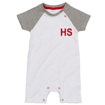 Embroidered Baby Baseball Playsuit