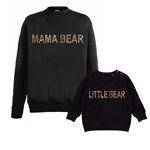 Leopard Print Mama Bear and Little Bear Jumpers