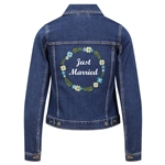 Personalised Embroidered Floral Bridal Denim Jacket