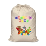 Personalised Canvas Toy Storage Bag