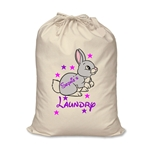 Personalised Canvas Bunny Rabbit Laundry Bag