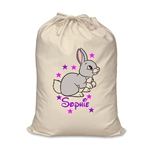 Personalised Canvas Bunny Rabbit Storage Bag