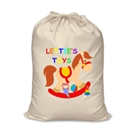 Personalised Canvas Rocking Horse Toy Storage Bag