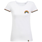 Embroidered Ladies Fit Rainbow T-shirt