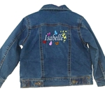 Personalised Butterfly Design Childrens Denim Jacket