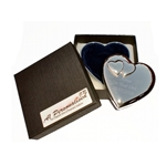 Engraved Heart Trinket Box with Heart Embellishment