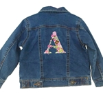 Personalised Children's Floral Initial Denim Jacket