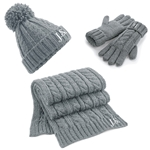 Embroidered Ladies Hat Scarf and Gloves Set