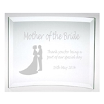 Engraved Mother of the Bride Glass Plaque