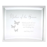 Engraved Mother of the Groom Butterflies Plaque