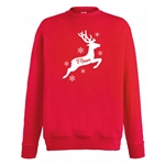 Personalised Adults Family Matching Christmas Reindeer Jumpers