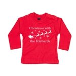 Personalised Childrens Christmas Long Sleeved Top