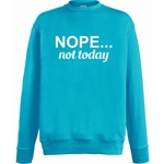 Nope Not Today Unisex Jumper