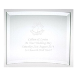 Engraved On Your Wedding Day Glass Bells Plaque