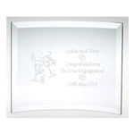 Engraved On Your Engagement Glass Plaque