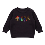 Embroidered Childrens Believe Christmas Jumper