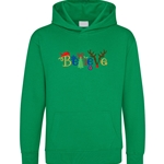 Embroidered Childrens Believe Christmas Hoodies