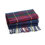 Personalised Embroidered Tartan Check Scarf