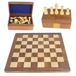 Engraved Chess Board and Pieces Set